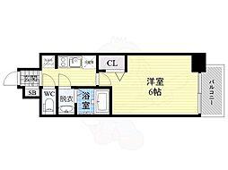 JR片町線(学研都市線) 鴫野駅 徒歩1分の賃貸マンション 10階1Kの間取り