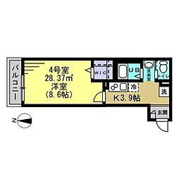 JR総武線 新小岩駅 徒歩10分の賃貸アパート 1階1DKの間取り