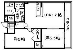 コンフォート東佐野[1階]の間取り