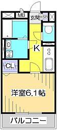 ラヴェニール国分寺[1階]の間取り