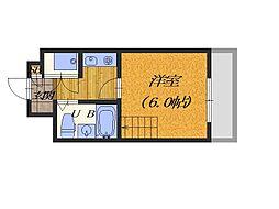 大阪府堺市堺区香ヶ丘町1丁の賃貸マンションの間取り