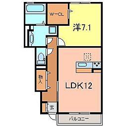 ラフィネ横山A棟[1階]の間取り