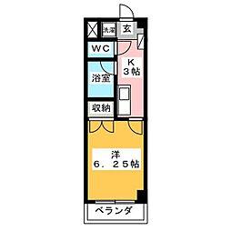 グラン・コンフォール三田[102号室]の間取り
