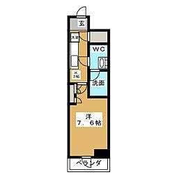 HY´S亀戸 11階1Kの間取り