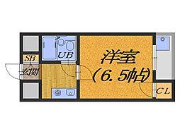 大阪府堺市堺区車之町西3丁の賃貸マンションの間取り