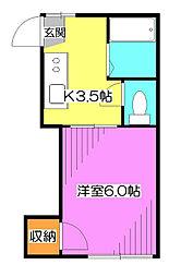 サンモール清瀬[1階]の間取り