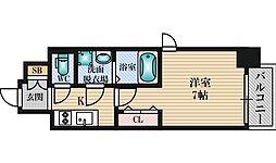 おおさか東線 JR淡路駅 徒歩9分の賃貸マンション 5階1Kの間取り