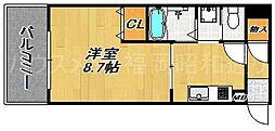 パークサイド端野II[7階]の間取り