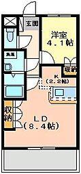 埼玉県日高市原宿の賃貸マンションの間取り