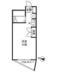 オーケービル[3階]の間取り