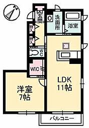 シャーメゾンASAKURA A棟[A101号室]の間取り