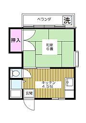 東京都板橋区高島平7丁目の賃貸アパートの間取り