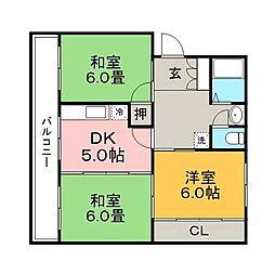 第1オーキッドビル[303号室]の間取り