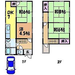 [一戸建] 愛媛県松山市祝谷5丁目 の賃貸【/】の間取り