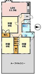 東京都江戸川区新堀2丁目の賃貸アパートの間取り