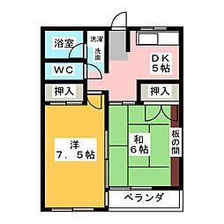 二村マンション[4階]の間取り