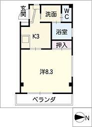 エクセル若竹[1階]の間取り