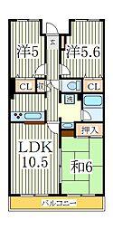 サポーレ天王台[5階]の間取り