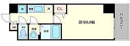プレサンス阿波座駅前 11階1Kの間取り