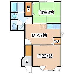 クレストール福井A棟[1階]の間取り