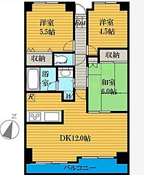埼玉県さいたま市南区太田窪2丁目の賃貸マンションの間取り