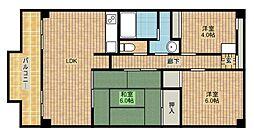 カーサ32[3階]の間取り