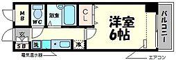 コンチェルト豊津[4階]の間取り