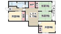 愛知県名古屋市守山区小幡太田の賃貸マンションの間取り