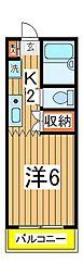 ラフィーヌ・松ヶ丘[103号室]の間取り