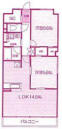 K−コンフォート[3階]の間取り
