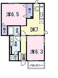 グレイスフルホームA[1階]の間取り
