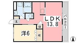 サンシャイン1号館[1階]の間取り