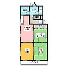 グリーンハイツ須崎[3階]の間取り