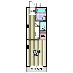 コスモハイツエコー[2階]の間取り