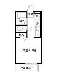 東京都調布市上石原2丁目の賃貸アパートの間取り