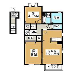 D−roomM A[2階]の間取り