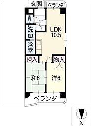 福洋マンション[5階]の間取り