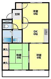 愛知県豊田市御幸本町6丁目の賃貸マンションの間取り