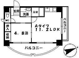 RESIDENCE西宮三篠町公園[4階]の間取り