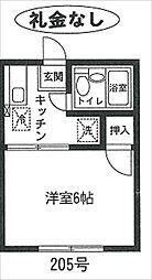 桜荘[205号室号室]の間取り