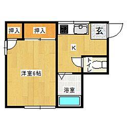 風間アパート[2階]の間取り