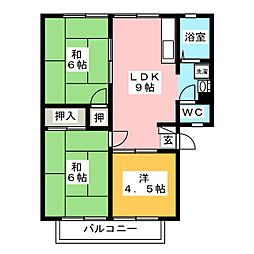 パナグランデ松崎B[2階]の間取り