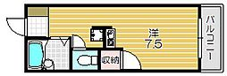 大阪府茨木市園田町の賃貸マンションの間取り