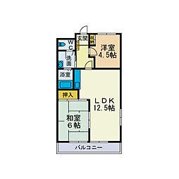 フユーグマンション[2階]の間取り