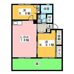 パインツリー1・2・3[1階]の間取り