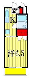 千葉県船橋市三山3丁目の賃貸アパートの間取り
