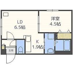 仮)東札幌1・6A[1階]の間取り