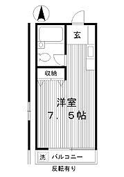 東京都練馬区練馬2丁目の賃貸アパートの間取り