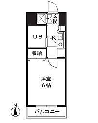 津田山YSビル[302号室]の間取り
