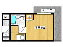 フローララポルテ[2階]の間取り